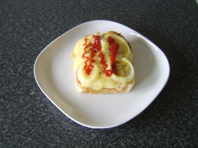 Grilled Cheese, Tomato and Onion Farmhouse Toastie