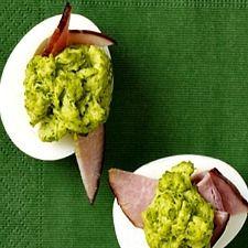 Emerald Green Deviled Egg Bites