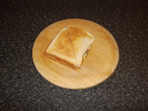 Second piece of toast forms lid