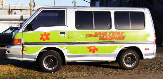 """I spotted this """"Mystery Machine"""" on a trip to Washington.  It really looked like the original!"""