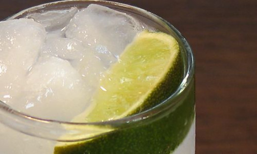 The summer standby -- Gin & Tonic. A classic. (Courtesy David and Lesley Jacobs Solmonson.)