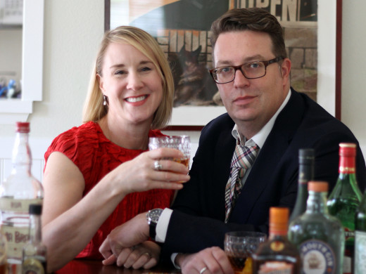 Our 12 Bottle Bar authors David and Lesley Jacobs Solmonson. Wow, do they know their stuff!