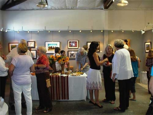 Artists' Reception at Paso Robles Art Association Ranch Dressing Exhibit