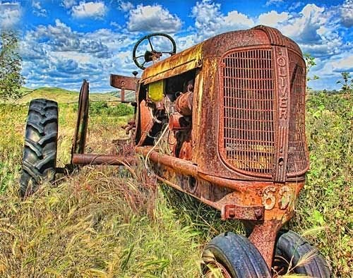 Oliver Tractor by Dean Crawford, Paso Robles Photographer.