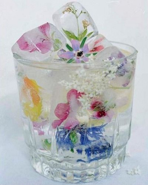Wildflowers Decorative Ice Cubes