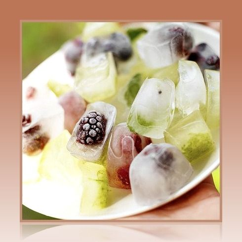 Fresh Fruit Decorative Ice Cubes