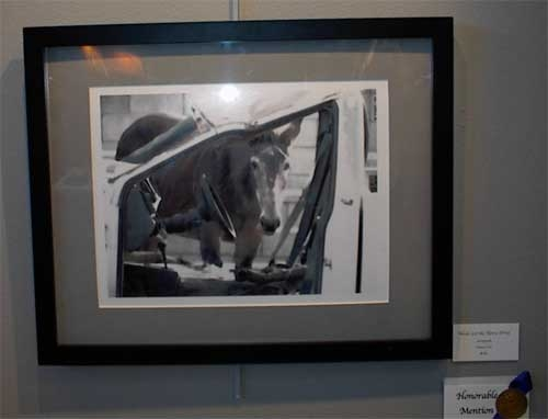 """Never Let the Horse Drive,"" by Nancy Vest, Ranch Dressing Art Exhibit"