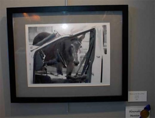 """Never Let the Horse Drive,"" by Nancy Vest, Ranch Dressing Art Exhibit"