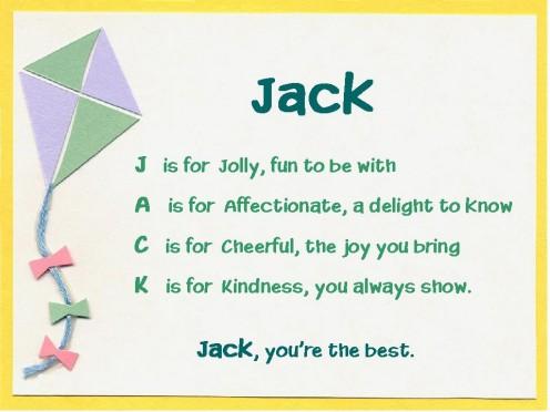 Acrostic Name Poems For Boys