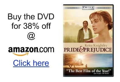 Pride and Prejudice movie DVD