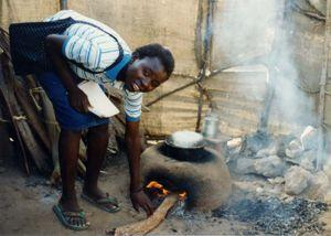 Smoke released from burning fire wood is a major health hazard in poor countries.
