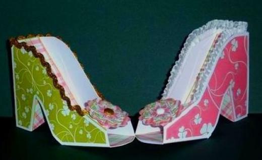 bridal shower shoe favor boxes