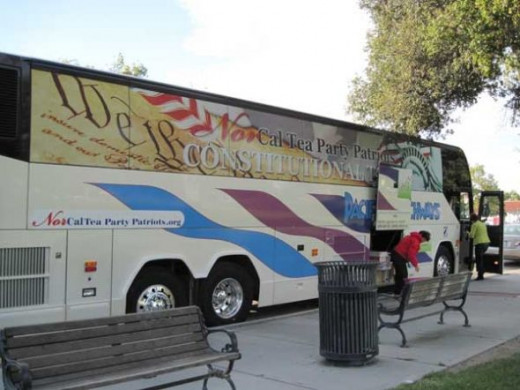 The Constitutional Bus Parked beside Paso Robles City Park on October 29, 2010