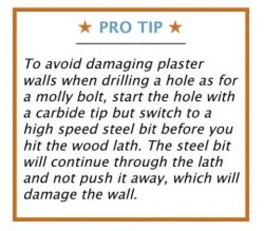 Pro Top for Drilling Plaster Walls to Hang Picture
