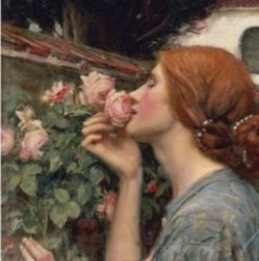 "Detail from ""The Soul of the Rose"" by John William Waterhouse"