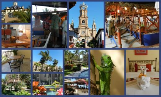 Photo Collage of Puerto Vallerta Area