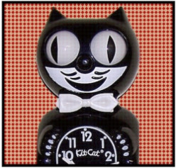 New & Retro Style Cat Clocks
