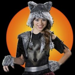 Scroll down for info about tween girl's wolf costume shown here.