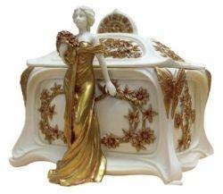 Art Nouveau Lady Jewelry Box