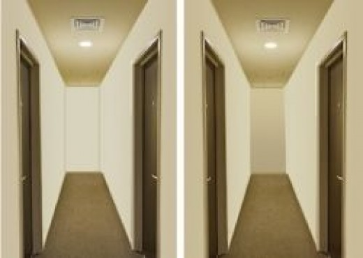 Long, narrow room with color correction               © 2012 Restoration Fabrics & Trims LLC