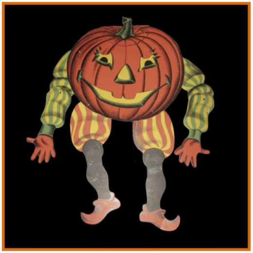 This old Halloween decoration has movable arms & legs that you can position as you want. This one is actually quite scary to a lot of younger kids.