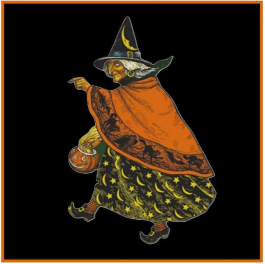 My favorite Witch decoration! Actually, the original is quite worn out - this is a vintage reproduction