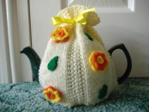 Flower Tea Cosy Knitting Patterns