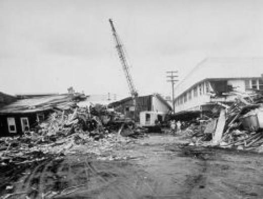 1960 Hilo Tsunami Devastation