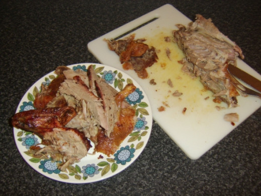 Meat removed from duck