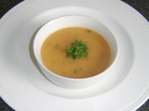 Spicy Carrot, Celery and Parsnip Soup