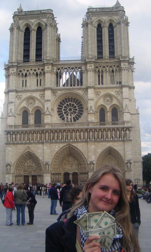 Natasha Kondakova and The Five Dollars at Notre Dame Cathedral, Paris, France