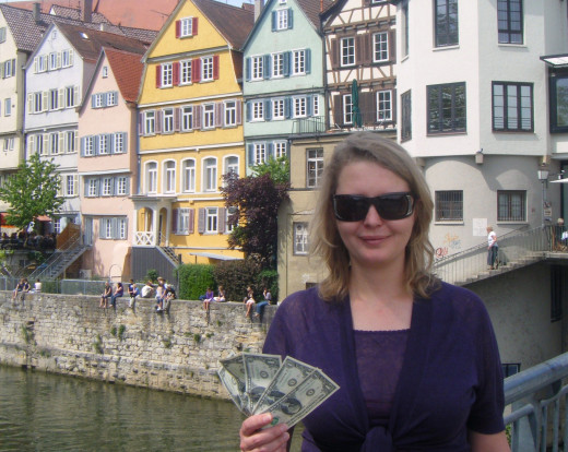 Alla Ignashchenkova Cares for The Five Dollars in Tuebingen, Germany