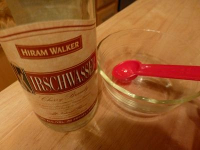 #7 Add 1 Tbsp. Kirsch cherry brandy to help cheese stay creamy and smooth