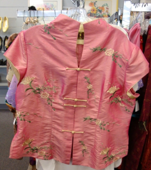 Silk Mandarin blouse