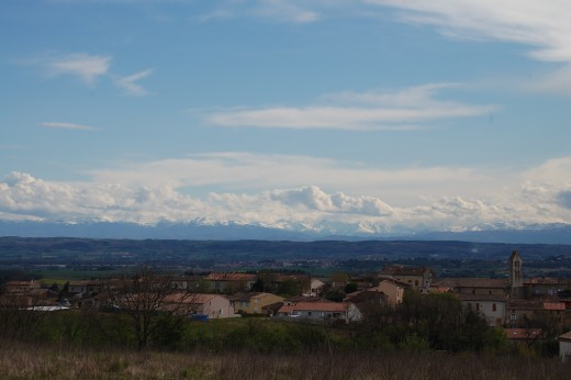 Looking over Issel to the Pyrenees