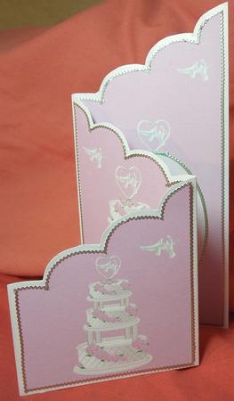 Quick scalloped top tri-fold card
