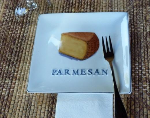 Parmesan cheese plate