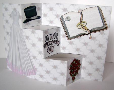 Easy trifold wedding dress card