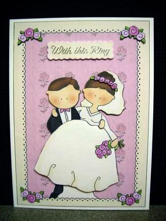 Make this cute decoupgage wedding card