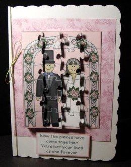 The picture is complete jigsaw card