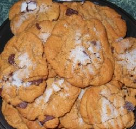 Peanut Butter Chocolate Chunk Gluten Free Cookies