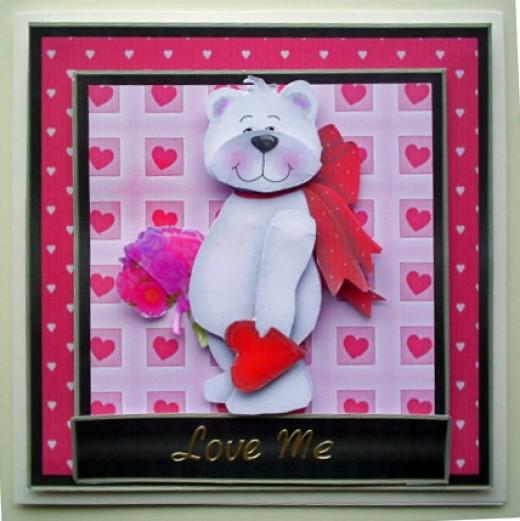 Printable Teddy Bear Valentine's Day Cards