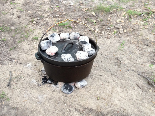 The number of briquettes you use depends on the size of your Dutch Oven.