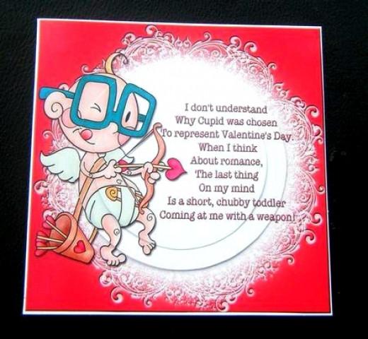 Printable Cupid Valentine's Day Card