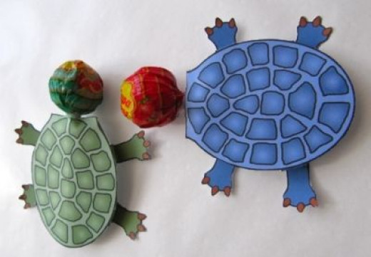turtle lollipop holders