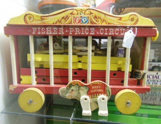 One of the first Fisher Price Circus Trains
