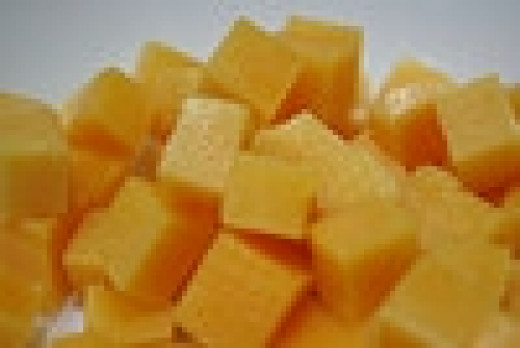 Cheese cubes go with most dishes