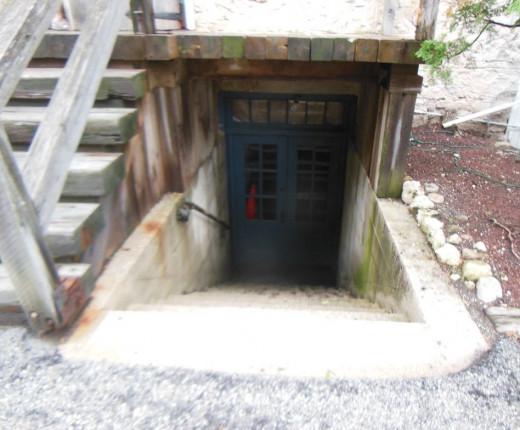 Cellar door to the Cedar Creek Settlement