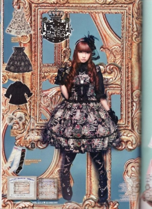 A page out of 'Gothic Lolita Bible' Magazine