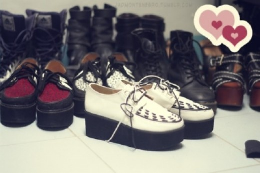 Creepers, the preferred Lolita shoes